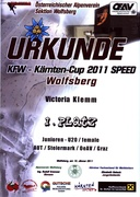 Urkunde Speed 2011 Wolfsberg
